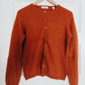 Orange cashmere cardigan Lord and Taylor size M
